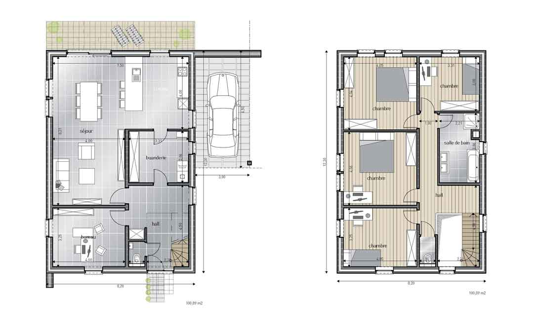 Dernière Maison 4 façades - Blavier